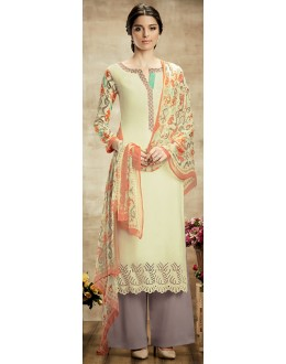 Party Wear Multicolour Cotton Palazzo Suit - 109