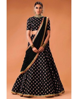 Bollywood Replica - Traditional Black Lehenga Choli  - WCBlack