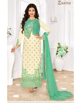 Ayesha Takia In Cream Georgette Salwar Suit - 1145