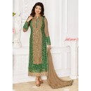 Ayesha Takia In Chickoo Georgette Salwar Suit - 1148