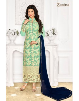 Ayesha Takia In Light Green Georgette Salwar Suit - 1149