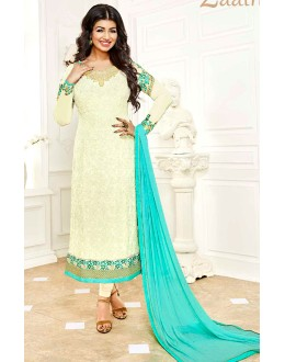 Ayesha Takia In Off White Georgette Salwar Suit  - 1138