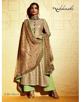 Party wear Beige Khadi  Salwar suit -171