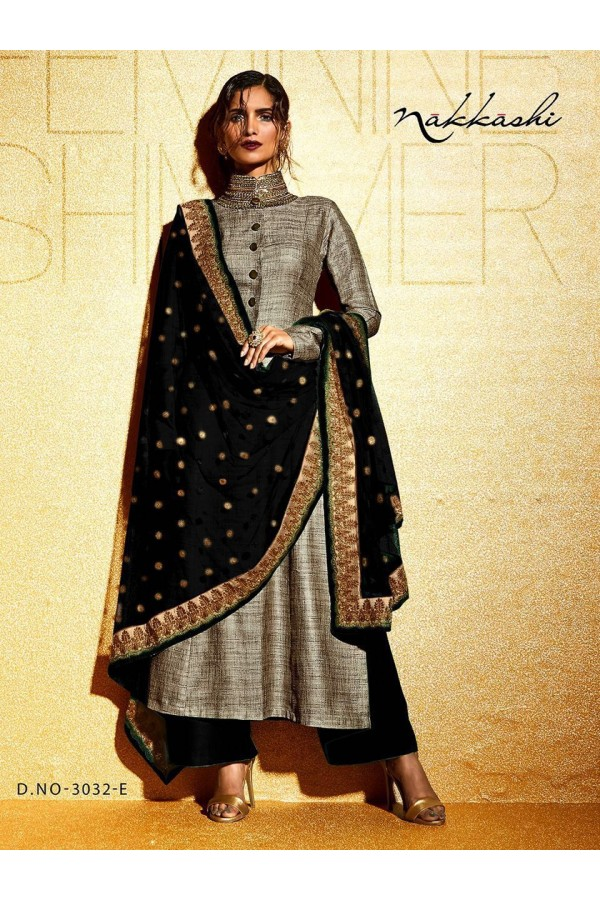 Party wear Black Khadi  Salwar suit -170