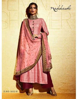 Party wear Pink Khadi  Salwar suit -172