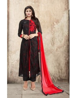 Eid Special Black Georgette Anarkali Suit - 33005