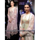 Bollywood Replica - Deepika Padukone Designer Cream Anarkali Suit  - BT-1004
