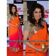 Bollywood Replica - Isha Koppikar Designer Orange & pink Saree - BT-118