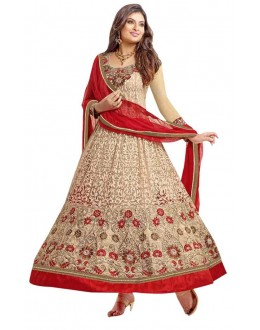 Ethnic Wear Brasso Beige Anarkali Suit - BT-20