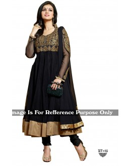 Ethnic Wear Net Black Anarkali Suit - BT-16