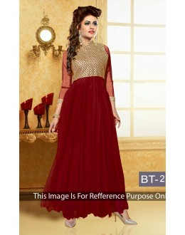 Festival Wear Heavy Georgette Red Gown - BT-2