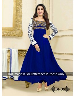 Party Wear Heavy Georgette Blue Gown - BT-8