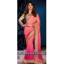 Bollywood Replica -  Designer Pink Saree - 1504