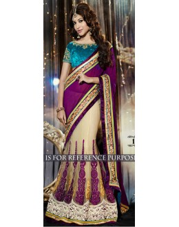 Bollywood Replica -  Designer Multicolour Lehenga Saree - 1514