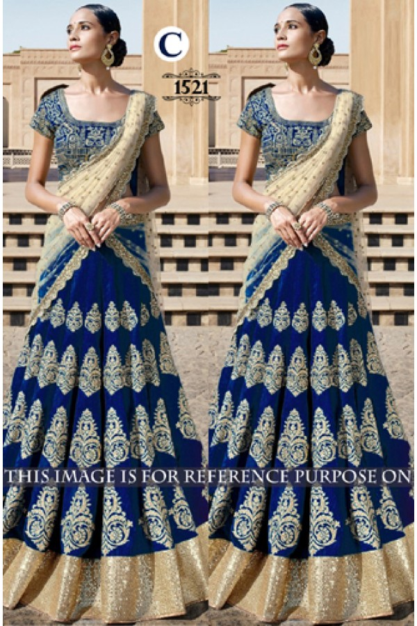 Bollywood Replica - Bridal Blue Lehenga Choli -  1521-C