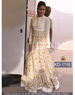 Bollywood Replica - Kareena Kapoor Designer White Gown  - KD-1116