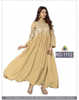 Party Wear Beige Georgette Gown - KD-1112