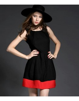 Party Wear Readymade Black Western Wear Dress - D-01