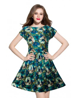 Fancy Readymade Royal Green Western Wear Dress - D-08-B
