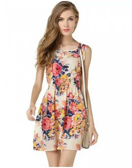 Fancy Readymade Multicolour Western Wear Dress - D-09
