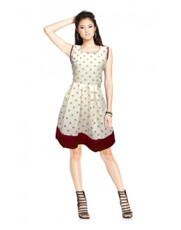 Casual Wear Readymade White Western Wear Dress - D-10