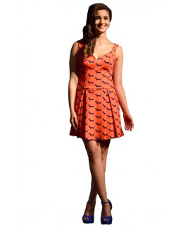 Fancy Readymade Orange Western Wear Dress - D-17