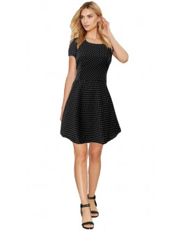 Casual Wear Readymade Black Western Wear Dress - D-18