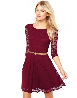 Party Wear Readymade Maroon Western Wear Dress - D-20