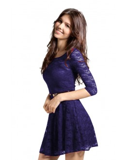 Fancy Readymade Dark Blue Western Wear Dress - D-30