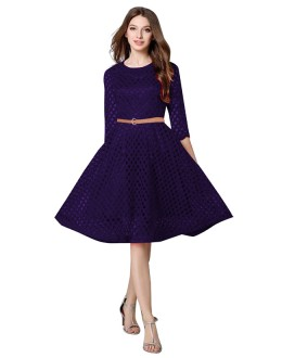 Fancy Readymade Navy Blue Western Wear Dress - D-32