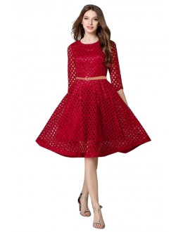Office Wear Readymade Maroon Western Wear Dress - D-35