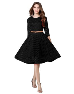 Casual Wear Readymade Black Western Wear Dress - D-36