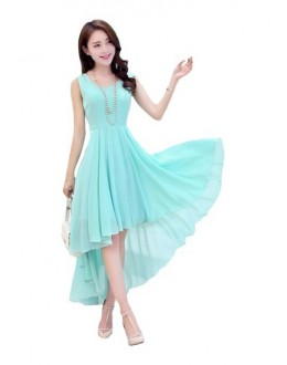 Fancy Readymade Sky Blue Western Wear Dress - D-42