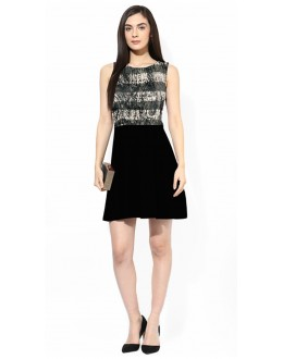 Fancy Readymade Black Western Wear Dress - D-44