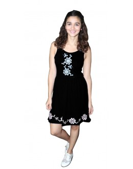 Party Wear Readymade Black Western Wear Dress - D-46