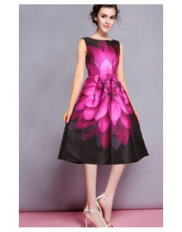 Party Wear Readymade Pink Western Wear Dress - D-58