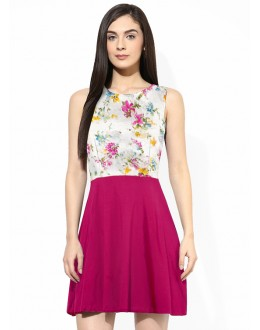 Party Wear Readymade Pink Western Wear Dress - D-61