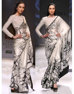 Bollywood Replica - Designer Off White Saree - KT-3019