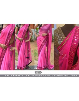 Bollywood Replica - Party Wear Pink Georgette Saree - KT-3157