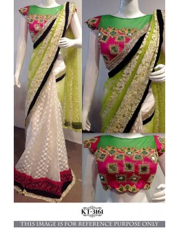Bollywood Style - Designer multi-Colour Half & Half Saree - KT-3161