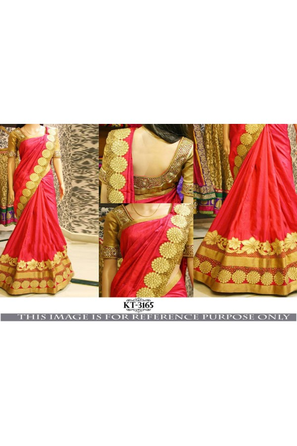 Bollywood Style - Wedding Wear Red Saree - KT-3165