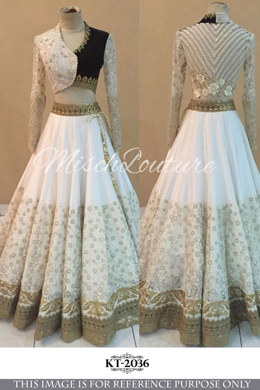 Bollywood Replica - Wedding Wear White Lehenga Choli - KT-2036