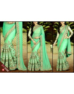 Bollywood Replica - Designer Sea Green Saree - KT-3040-B