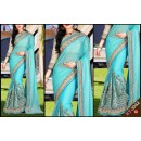 Bollywood Replica - Designer Blue Saree - KT-3042-C