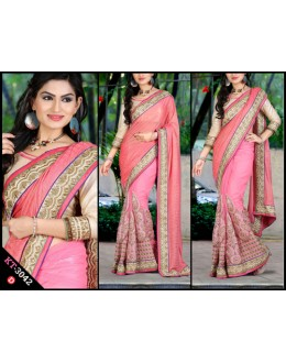 Bollywood Replica - Designer Light Pink Saree - KT-3042-D