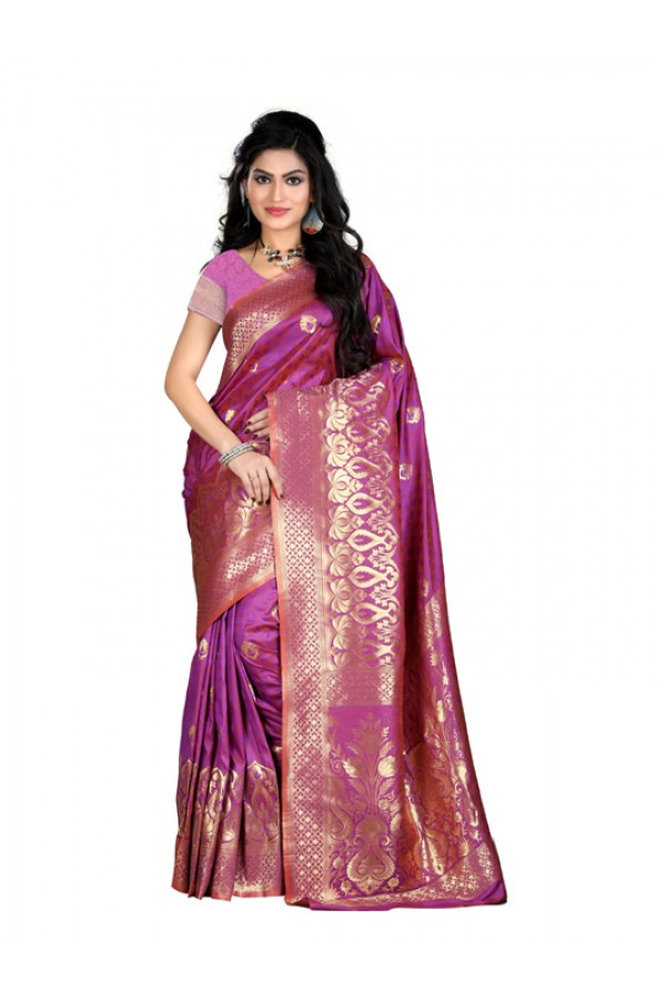 Bollywood Replica - Designer Purple Kanjivarm Saree - KT-3045-B