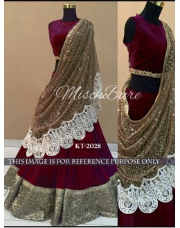 Bollywood Replica - Wedding Wear Maroon Lehenga Choli - KT-2028