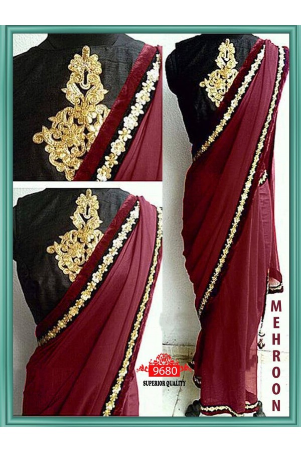 Bollywood Replica - Wedding Wear Maroon Saree - 9680