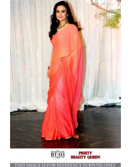 Bollywood Replica - Preity Zinta In Double Shaded Georgette Saree  - BT-133
