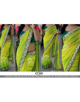 Bollywood Replica - Fancy Sibori Printed Green Saree - KT-3105